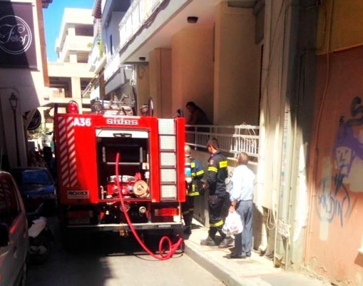Ηράκλειο: Φωτιά σε σπίτι στο κέντρο της πόλης