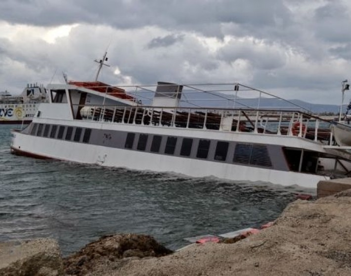 Βυθίστηκε το «Gramvousa Bay»  στο λιμάνι της Κισσάμου στα Χανιά