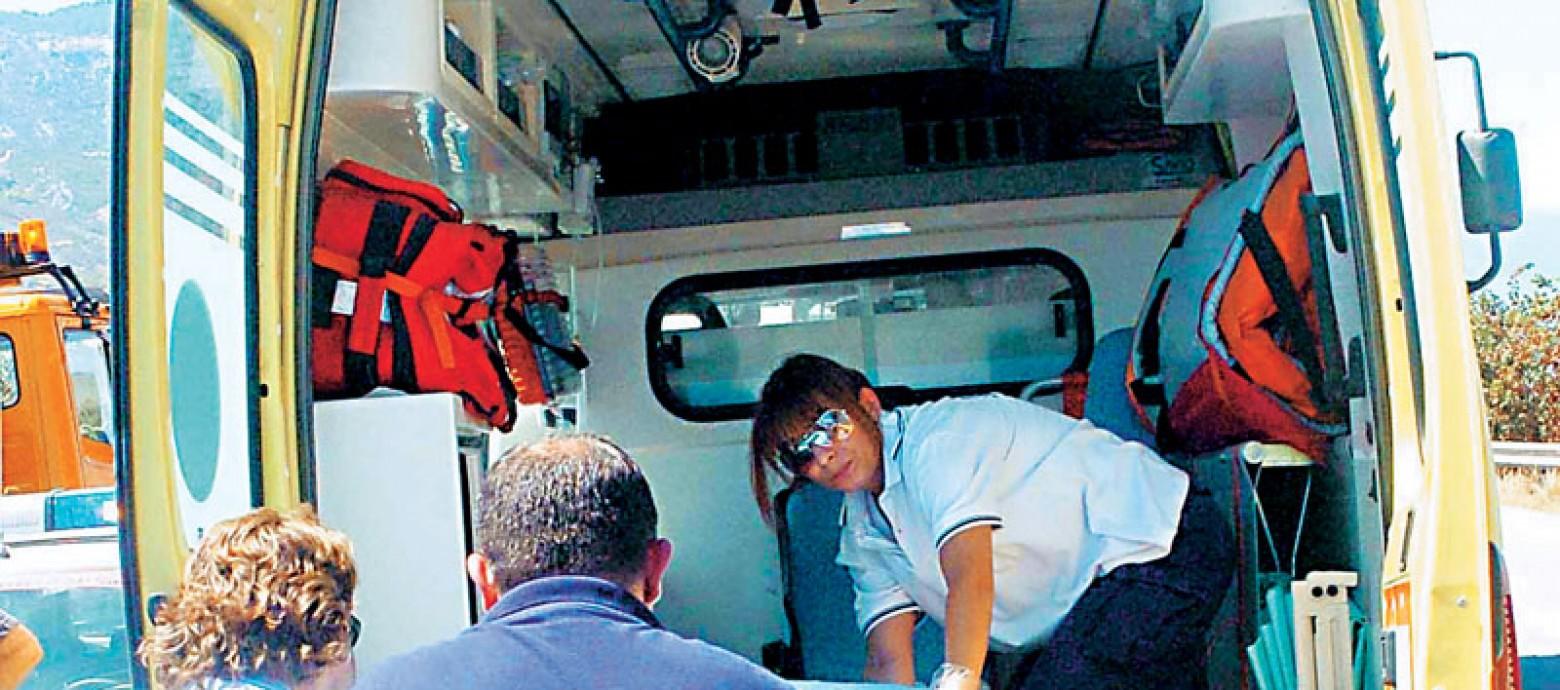 Ηράκλειο: Δύο τραυματίες απο τη νερομποντή
