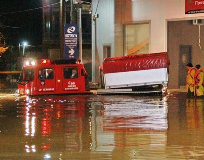 Καταστροφές από την κακοκαιρία στην Κρήτη-Να κηρυχθεί πλημμυρόπληκτος ο νομός του Ηρακλείου