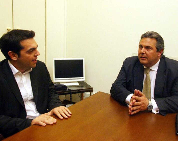 Ραντεβού Τσίπρα-Καμμένου- Κυβέρνηση Συνεργασίας ΣΥΡΙΖΑ-ΑΝΕΛ