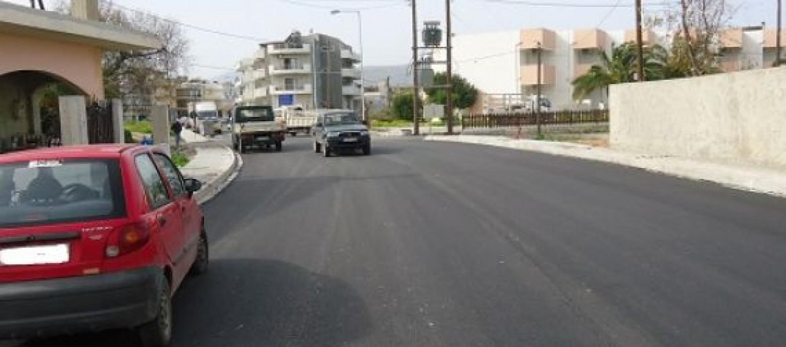 Παραδόθηκε άτυπα στην κυκλοφορία  ο δρόμος που συνδέει την παραλιακή λεωφόρο με την Αμμουδάρα