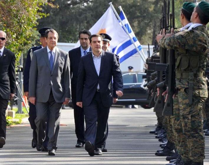 Κύπρος: Στο Προεδρικό Μέγαρο ο Αλέξης Τσίπρας