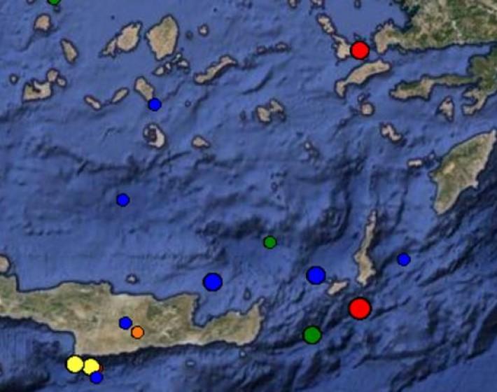 Σεισμός 5,3 ρίχτερ  μεταξύ Κάσου και Κρήτης