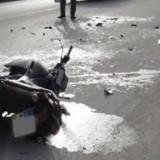 Σοβαρό τροχαίο με μοτοσικλετιστή κοντά στο αεροδρόμιο Ηρακλείου