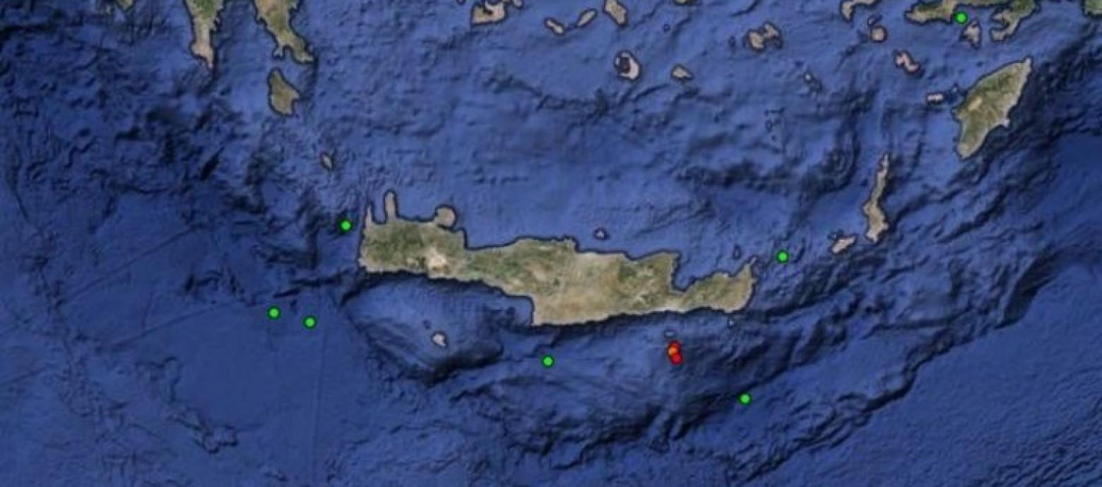 Σεισμική δόνηση έντασης 4,7 βαθμών ρίχτερ νότια της Ιεράπετρας