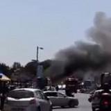 Ηράκλειο: Λεωφορείο τυλίχτηκε στις φλόγες στο κέντρο της πόλης (Video)