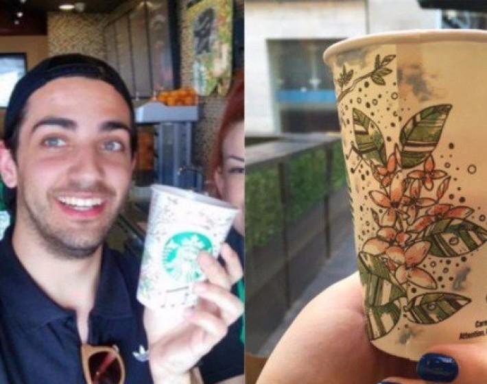 Ο Κρητικός που ζωγράφισε τα ποτήρια των Starbucks όλης της Ευρώπης