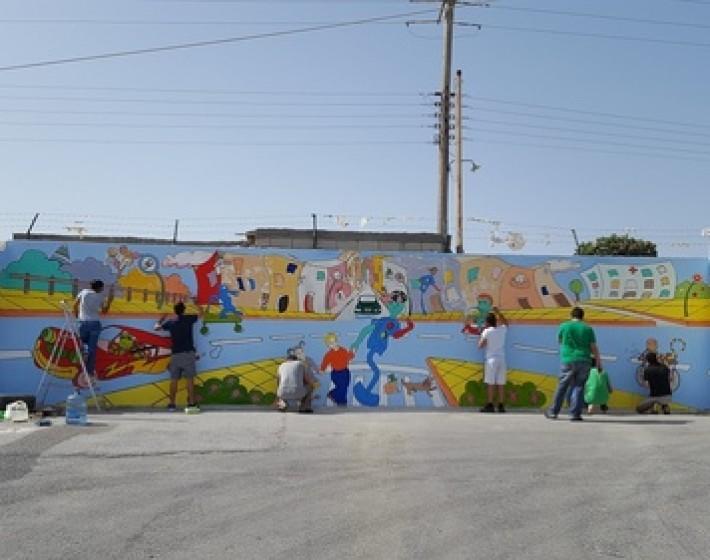 Τα παιδιά ζωγραφίζουν το πάρκο – Εικαστική παρέμβαση από το ΚΕΘΕΑ ΑΡΙΑΔΝΗ