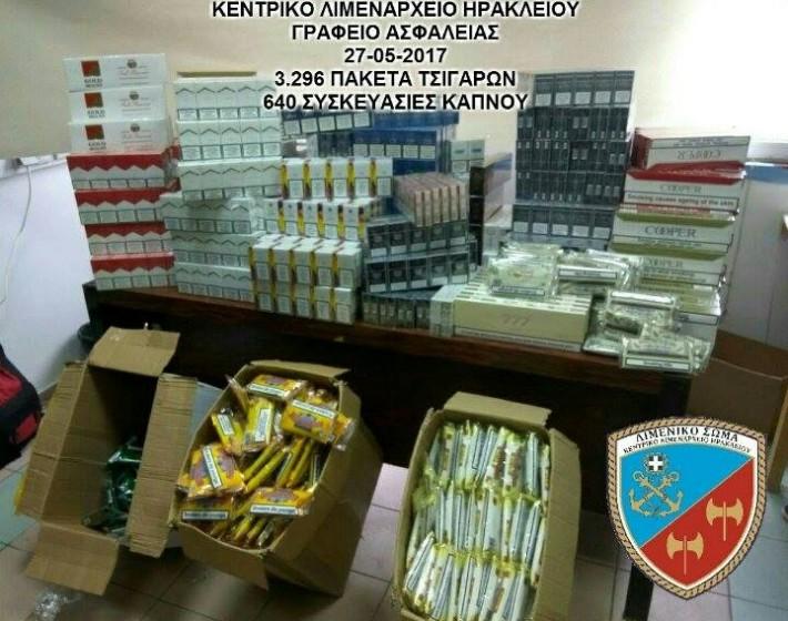 Κατασχέθηκαν χιλιάδες λαθραία πακέτα τσιγάρων στο Ηράκλειο