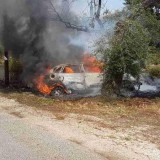 Χανιά: Αυτοκίνητο έγινε στάχτη στο δρόμο προς το Λαφονήσι
