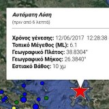 Σεισμός 6,4 Ρίχτερ ανοιχτά της Μυτιλήνης (video)