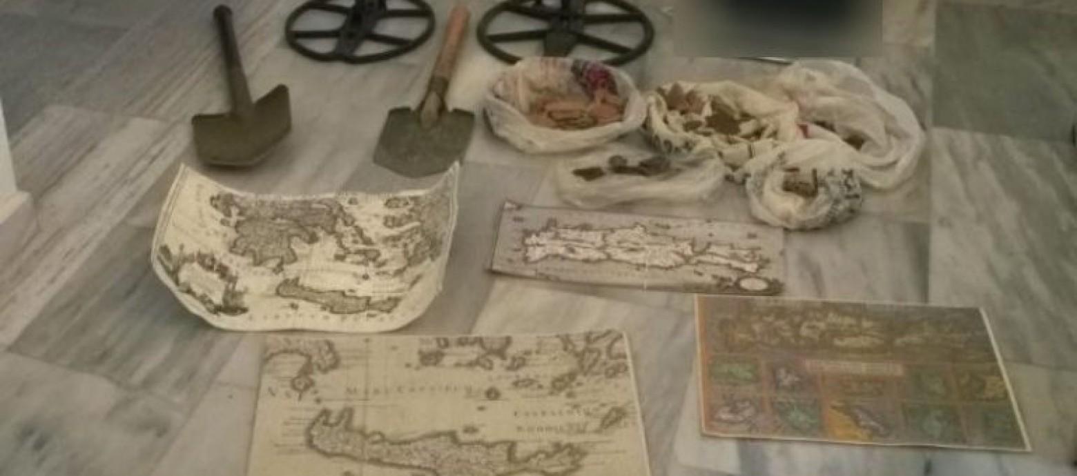 Έψαχναν αρχαία σε  αρχαιολογικό χώρο στην Κίσαμο