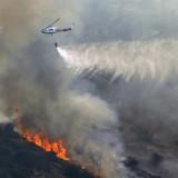 Καλύτερη η εικόνα της πυρκαγιάς στην Ανατολή Ιεράπετρας