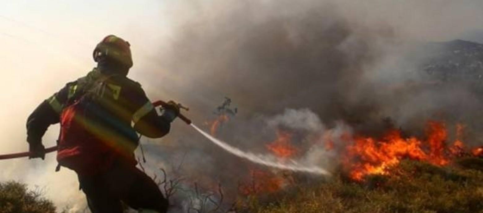 Ρέθυμνο:Μεγάλη φωτιά από τα ξημερώματα