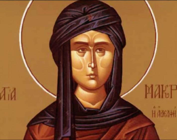 Το λείψανο της Αγίας Μακρίνας από το Άγιο Όρος στην Κρήτη
