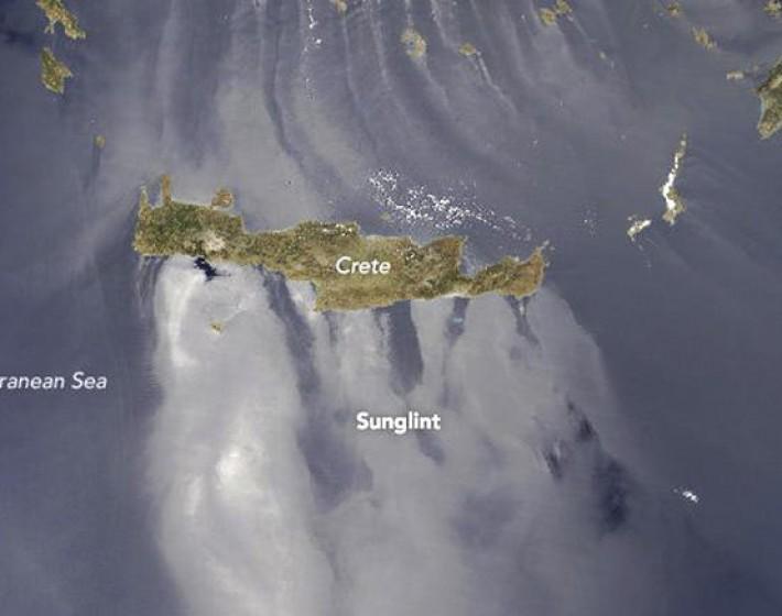 Το μοναδικό φαινόμενο sunlight κατέγραψε η NASA  στο Αιγαίο