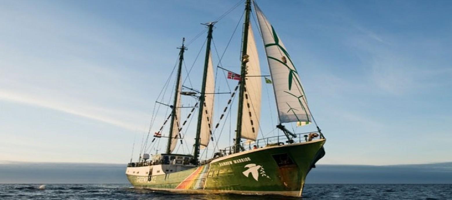 Το πλοίο της Greenpeace, Rainbow Warrior, στην Κρήτη