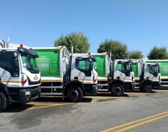 Οκτώ καινούργια απορριμματοφόρα στο Δήμο Ηρακλείου